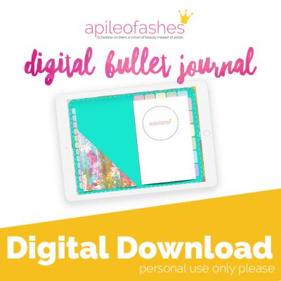 teal digital bullet journal