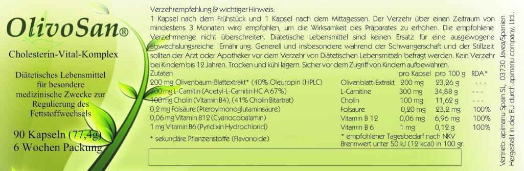OlivoSan Etikett