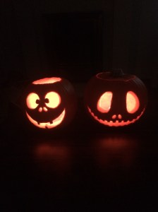 ...the finished pumpkins!