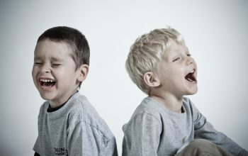 Happy children laughing