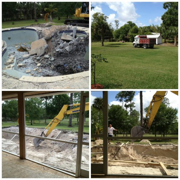 First day of pool re-do