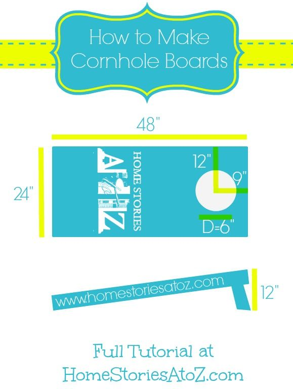 How to Make Cornhole Boards from Home Stories A to Z