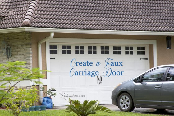 Faux Carriage Garage Door - How to Create a faux carriage garage door