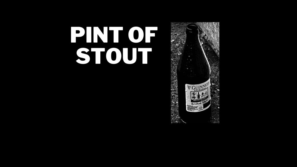 A pint of stout