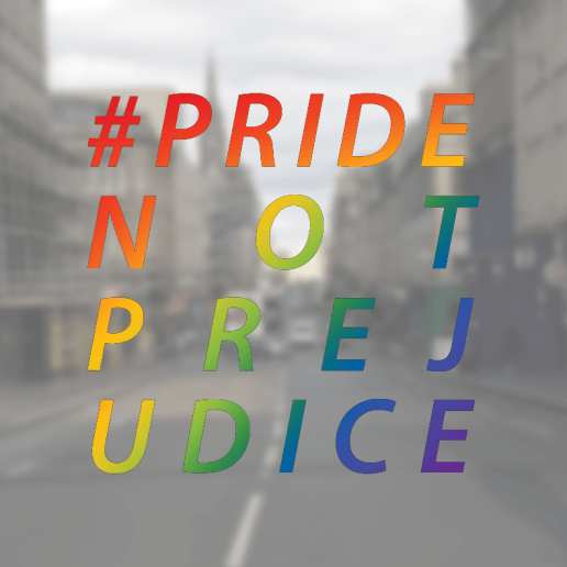 a graphic I created for Pride, Not Prejudice, upcoming anthology publised by Unbound.