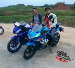 Suzuki gsx vs New R15
