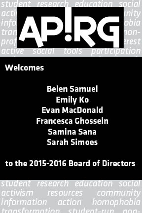 Congratulations 2015-2016 Board members!