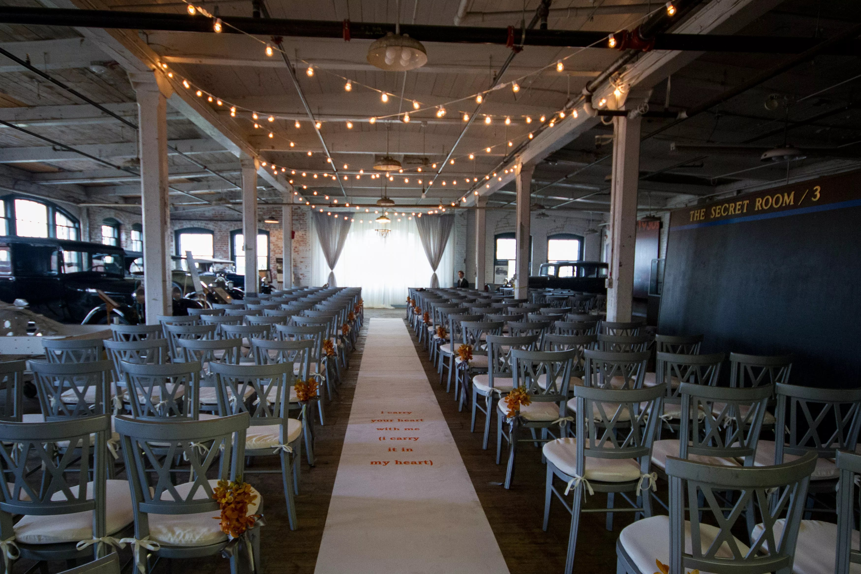 Industrial Wedding Ceremony At Ford Piquette Avenue Plant