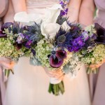 Purple And White Calla Lily Bouquets