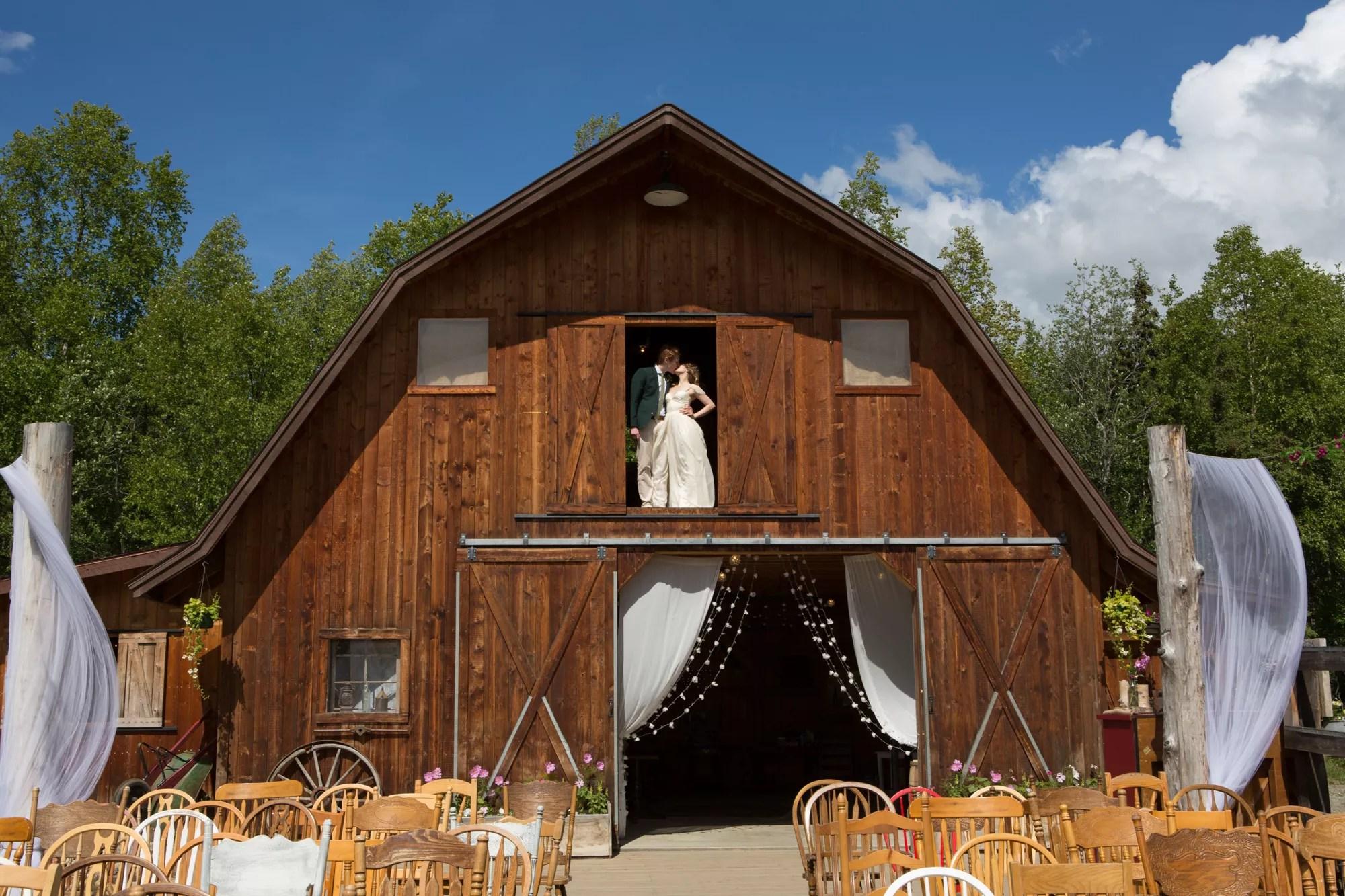 Rustic Brown Barn Wedding Reception Location