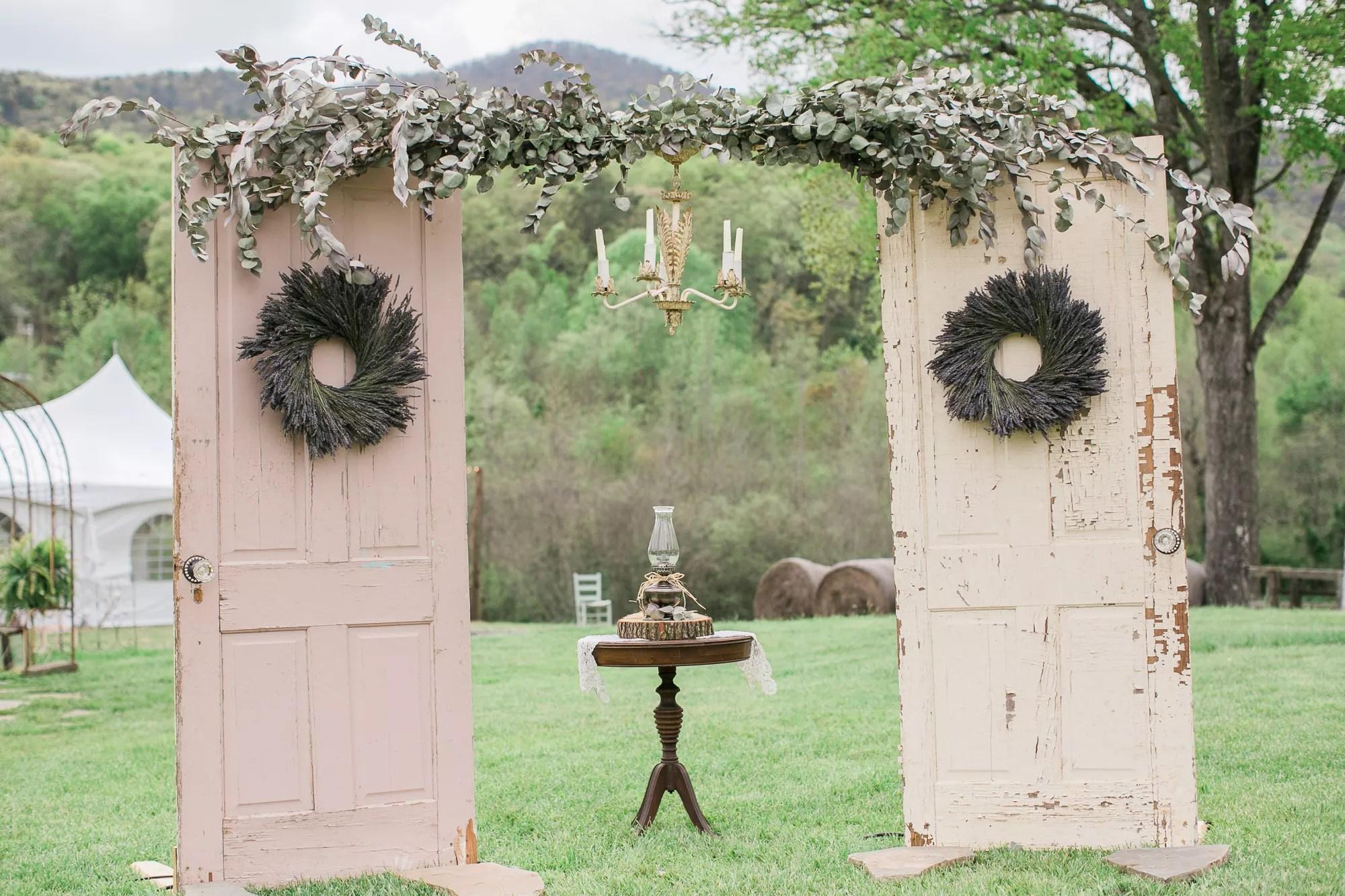 DIY Vintage Door Wedding Arch