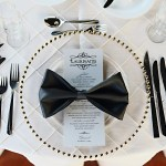 Bow Tie Napkin Place Setting