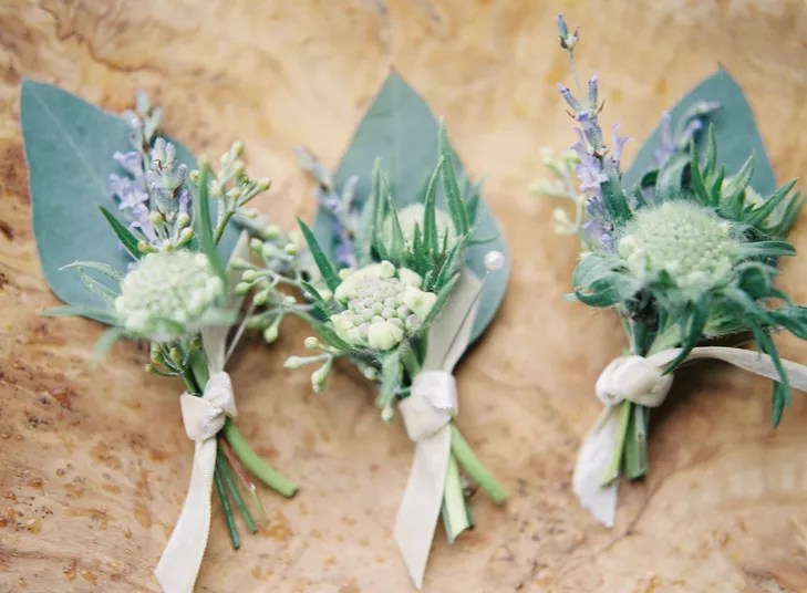 Lavender And Eucalyptus Boutonnieres