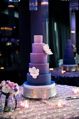 Purple Wedding Cakes Purple Ombre Wedding Cake
