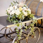 Overflowing Neutral Colored Flower Arrangement