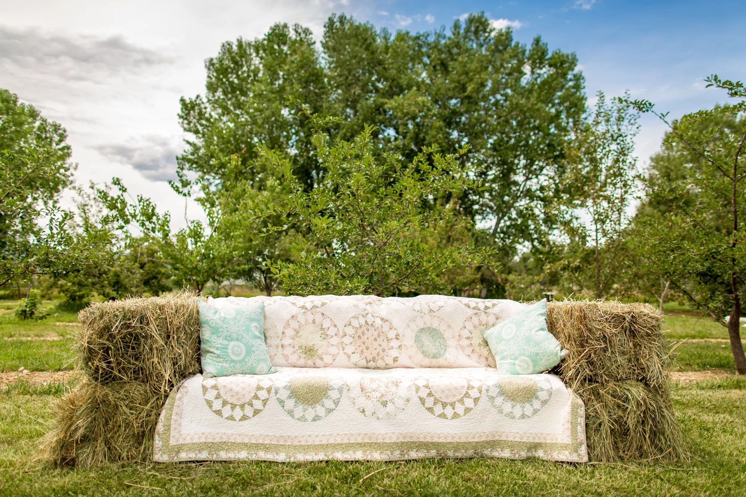 Hay Bale Couch Wedding Lounge Furniture