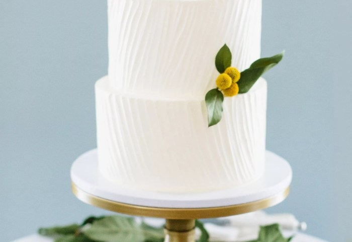 Simple Elegant White Wedding Cake