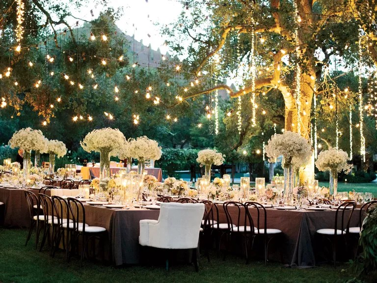 Night Time Outdoor Wedding Reception Ideas