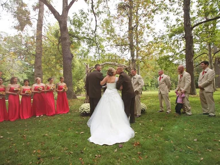 Dad, stepdad and bride