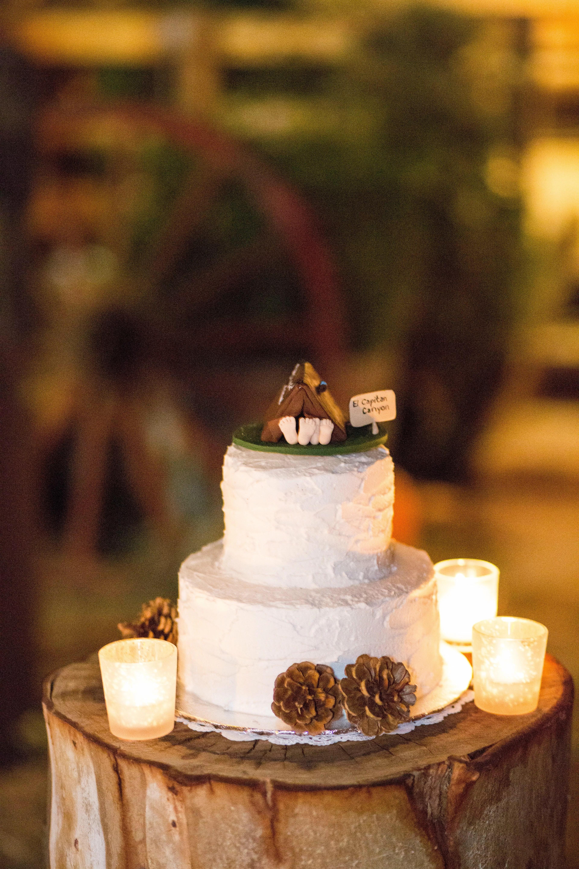 Camping Themed Wedding Cake