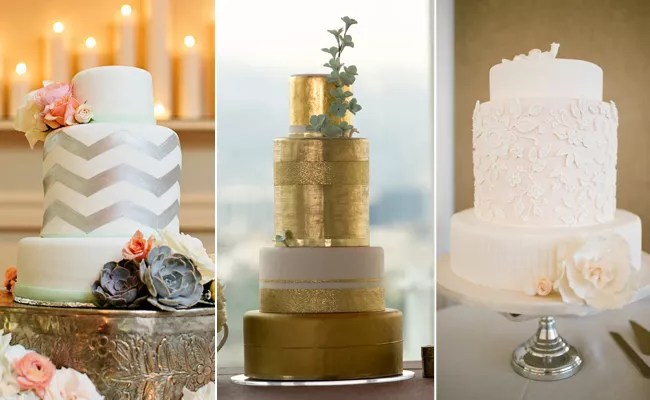 Tall Middle Tier Trends for a Dramatic Wedding Cake Cakes With Extra Tall Middle Tiers   blog TheKnot com