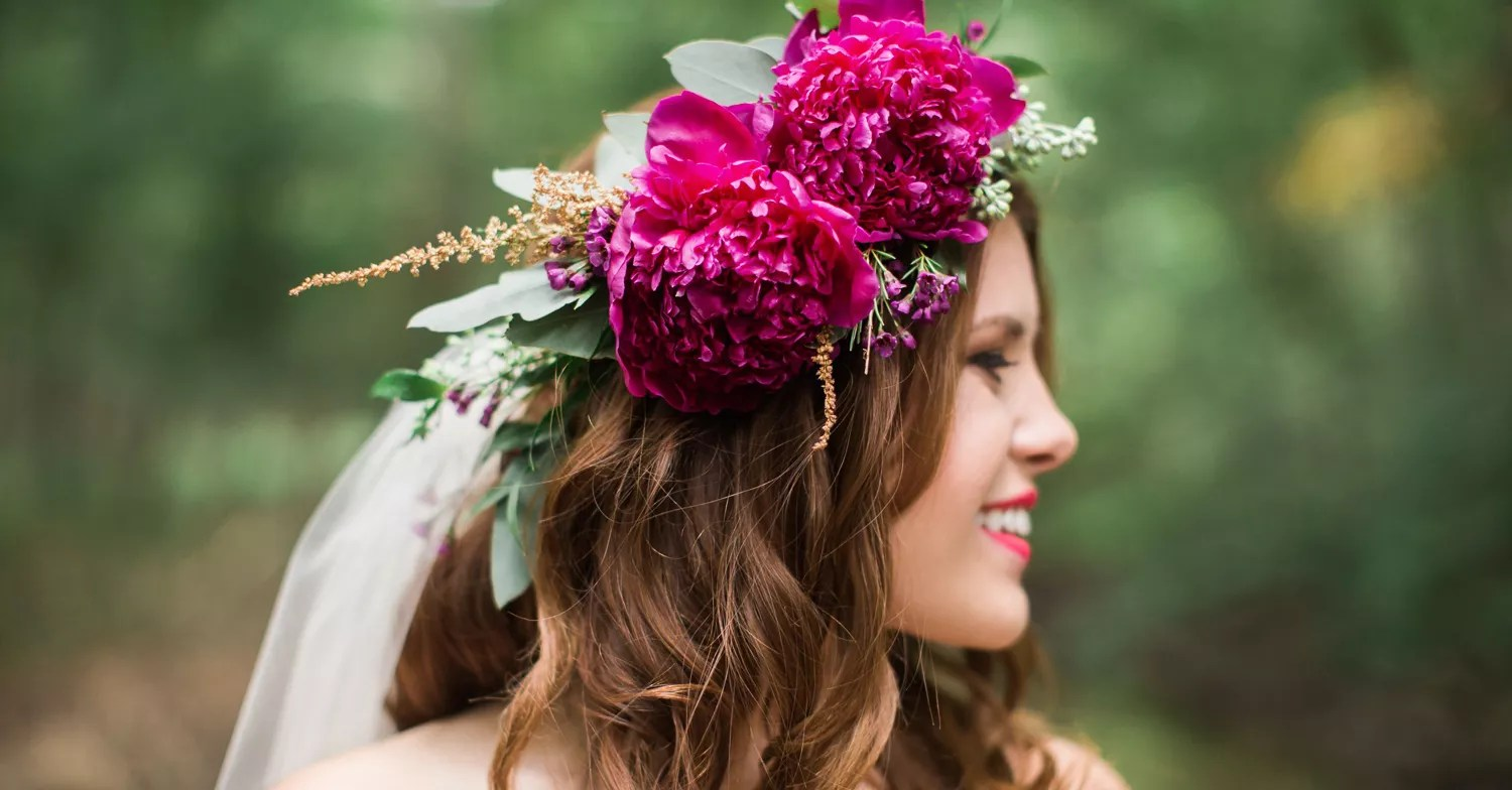 Wedding Hair Ideas: Wedding Hairstyles With Real Flowers
