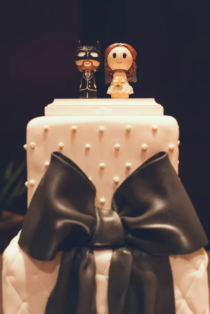 Custom Bride And Batman Wedding Cake Topper