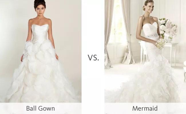 Ball Gown Vs. Mermaid #WeddingMadness