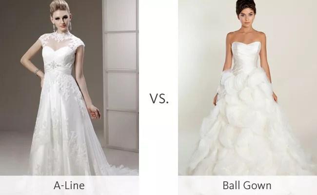 The A-Line Wedding Dress Vs The Ball Gown #WeddingMadness