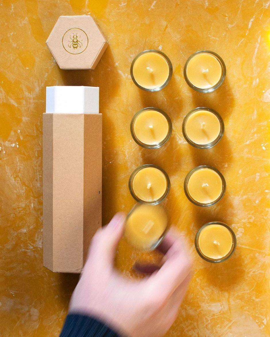 Bougies chauffe-plat en cire d'abeille - Apis Cera