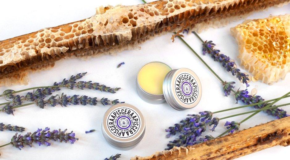 Organic honey and lavender lip balm