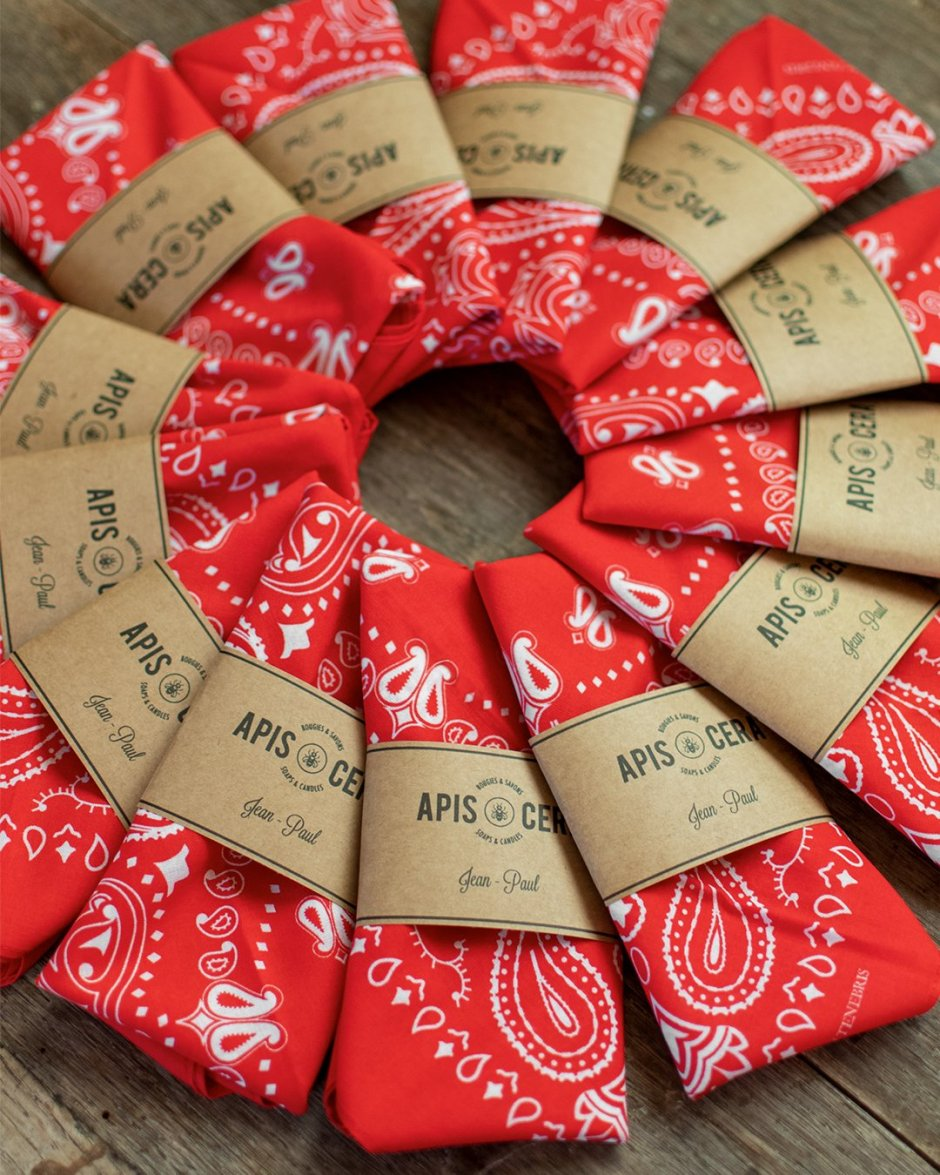 Bandana classique 100% coton motif Paisley - Jean-Paul