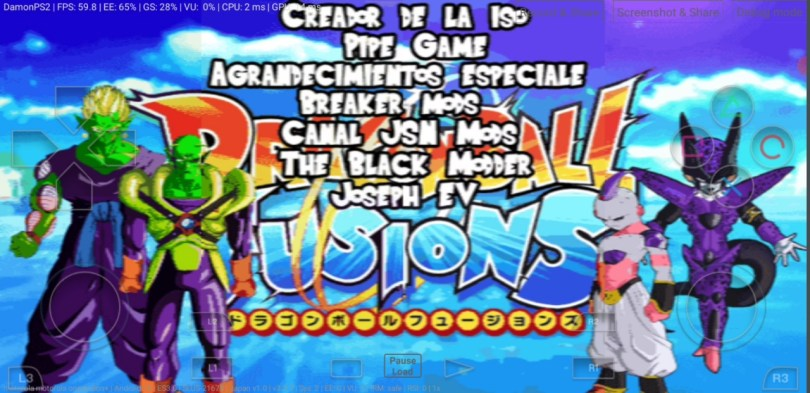 Dragon Ball Fusion DBZ BT3 MOD PS2 ISO Download