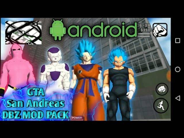 Download GTA San Andreas Dragon Ball Z Mod Goku