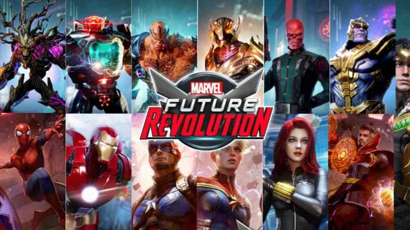 Marvel Future Revolution all Heroes and Villains