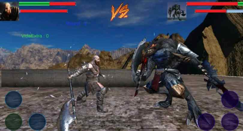 Mortal fight of God Kratos Game for android