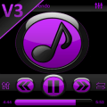 SKIN PLAYERPRO FUTURA PURPLE v1.0 [Latest]