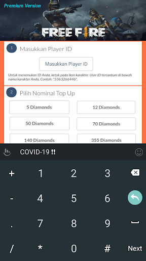 Screenshot of Codashop Pro Apk