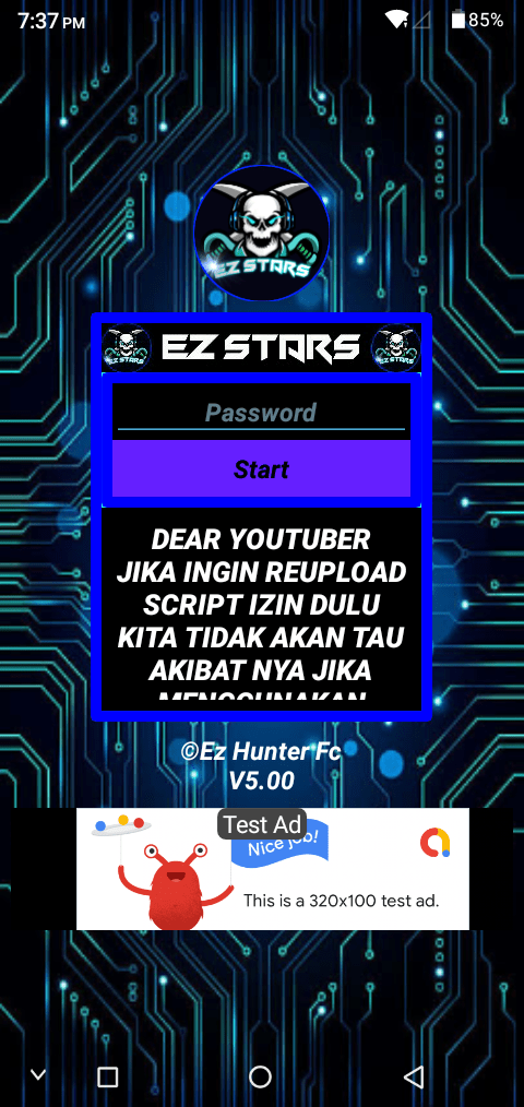 Screenshot of Ez Stars Injector