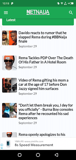 Screenshot of Netnaija Movie App