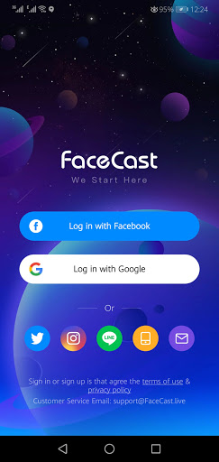 Screenshot of Facecast App