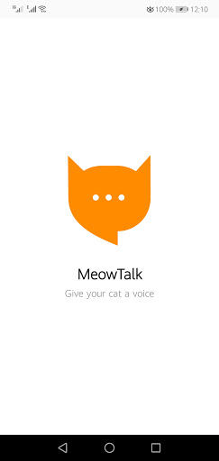 Screenshot of Meow Talk App