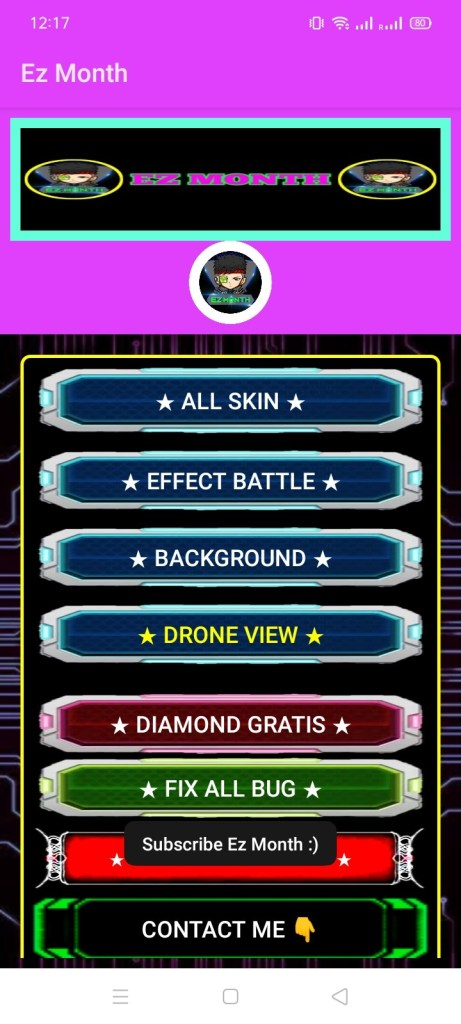 Screenshot of EZ Month