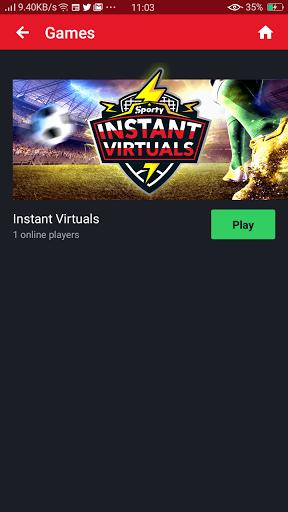 Screenshot of Sportybet App