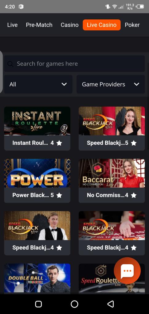Screenshots of PNXBET Apk