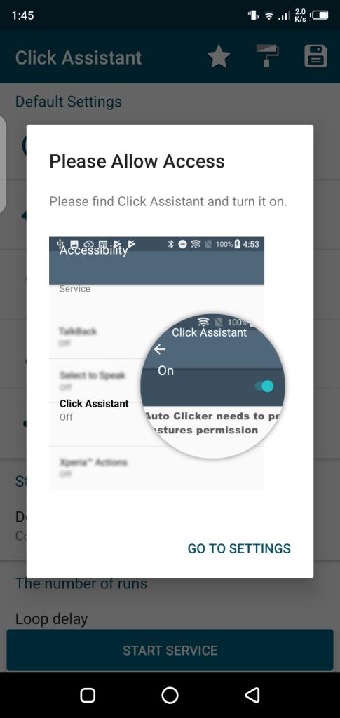 Screenshot of Asisten Klik App