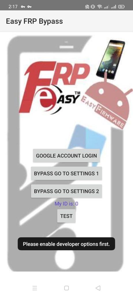Screenshot of Easy FRP Bypass