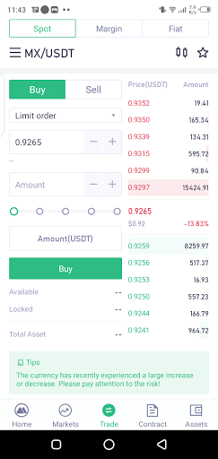 Screenshot of MXC Exchange Apk