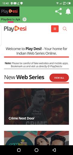 Screenshot of Desi Cinema TV Android