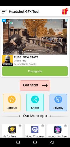 Screenshot of Headshot GFX Tool Android
